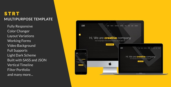 STRT - Multipurpose Site Template - Marketing Corporate