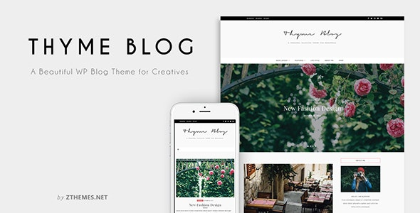 Thyme - A Blog & Shop Theme for WordPress - Personal Blog / Magazine