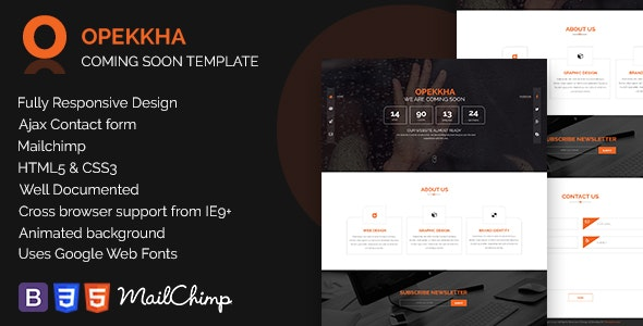 Opekkha - HTML5 Responsive Coming Soon Template - Under Construction Specialty Pages