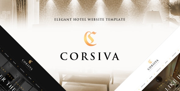 Corsiva - Responsive Hotel Website Template - Travel Retail