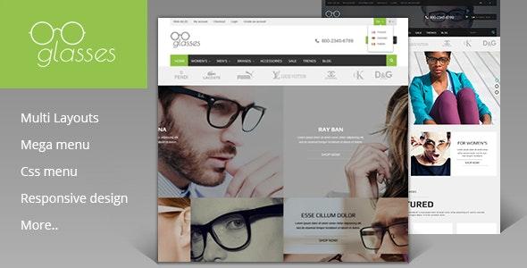 Glasses Shop - Magento Theme - Magento eCommerce