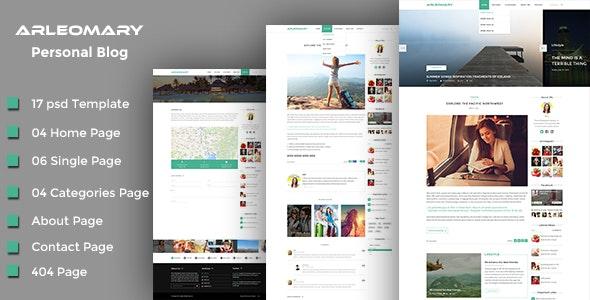 Arleomary - Travel/Lifestyle Blog - PSD Template - Retail PSD Templates