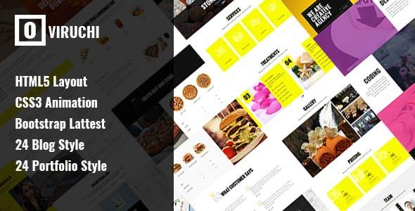 Oviruchi - Responsive Multipurpose HTML5 Template