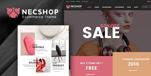 Necshop eCommerce Responsive Html Template - Retail Site Templates