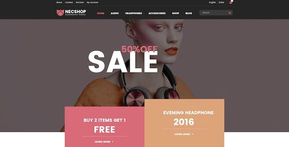 Necshop eCommerce Responsive Html Template
