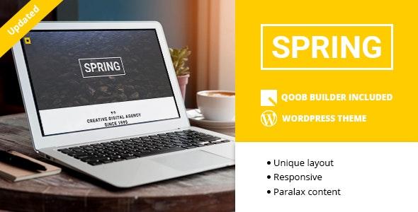 Spring - Creative One Page WordPress Theme - Portfolio Creative