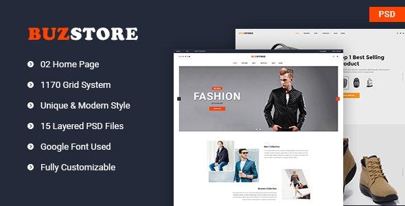 Buzstore - Fashion/Clothing eCommerce PSD Template - Fashion Retail