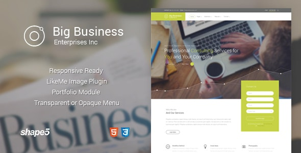 Big Business - Responsive Template - Business Corporate