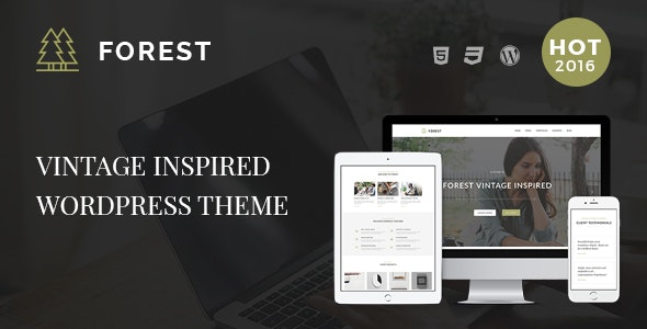 Forest - Vintage Inspired Creative WordPress Theme - Art Creative