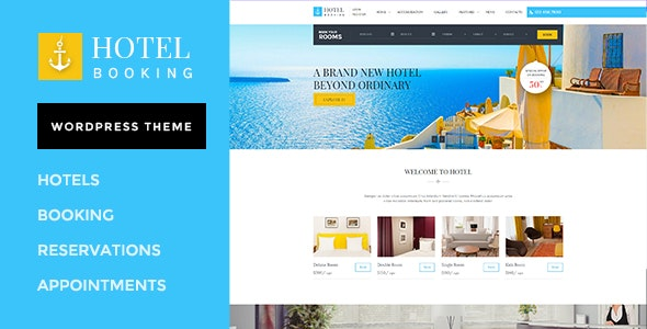 Hotel Booking - Wordpress Theme for Hotels - Travel Retail