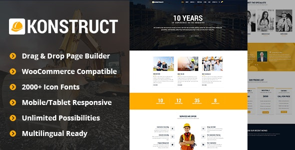 Konstruct - Construction WordPress Theme for Construction, Building and Renovation Business - Business Corporate