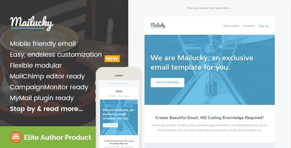 Mailucky, Modern Email Template + Builder Access