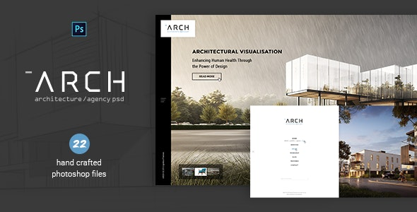 Arch - Architecture & Agency PSD - Creative Photoshop