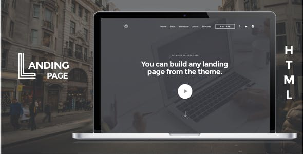Mobile App Landing Page HTML Template