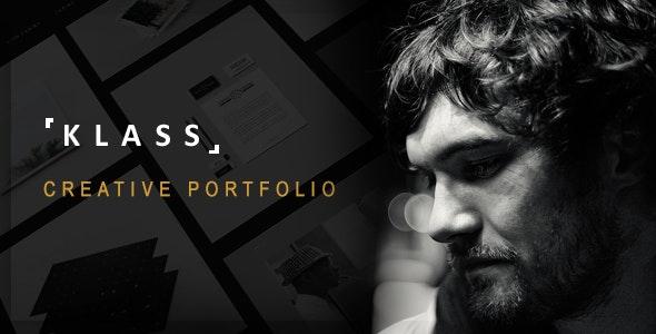 KLASS | Dark Minimal Portfolio Template - Portfolio Creative