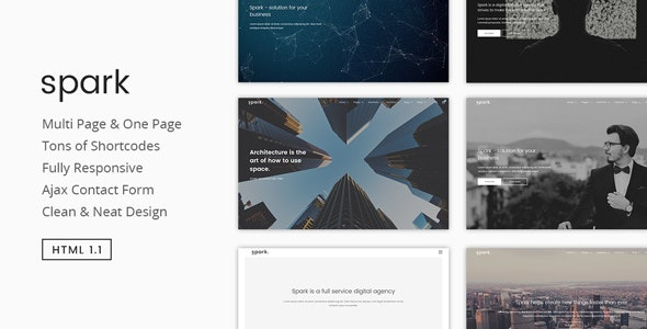 Spark | Modern Multipurpose HTML5 Template - Corporate Site Templates