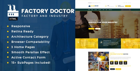 Factory Doctor - Factory & Industrial Business Template - Business Corporate