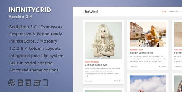 InfinityGrid - An infinite scrolling - personal blogging theme - Personal Blog / Magazine