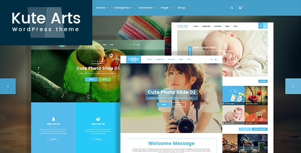 Kute Arts Blog WordPress Theme - Blog / Magazine WordPress