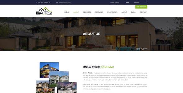 Dom-Inno Real Estate PSD Template