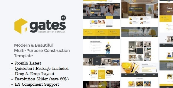 Gates - Multi-Purpose Construction Joomla Template - Creative Joomla
