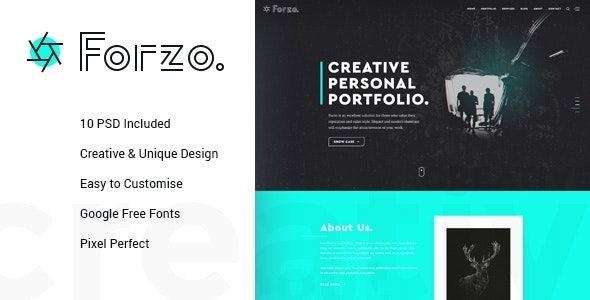 FORZO – Creative Photography PSD Template - Photography Creative
