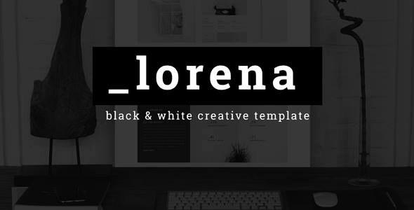 Lorena - Creative Black & White HTML Template - Creative Site Templates