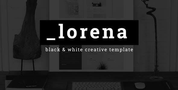Lorena - Creative Black & White HTML Template