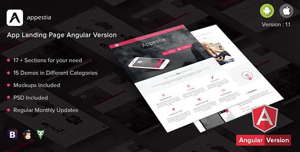 Appestia - App Landing Page Angular Version - Technology Site Templates
