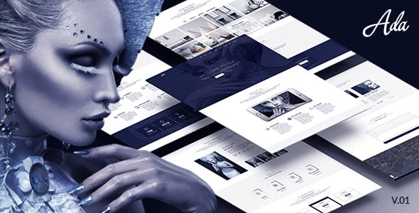 Ada - One Page PSD Template