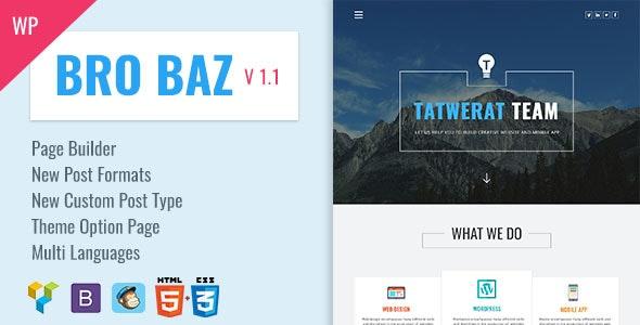 BroBaz - Corporate & Blog WordPress Theme - Corporate WordPress