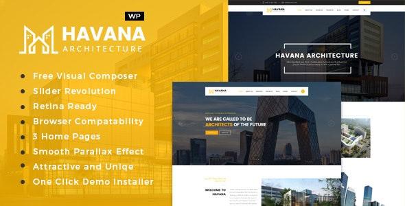 Havana - Architecture, Interior and Design WordPress Theme - Business Corporate