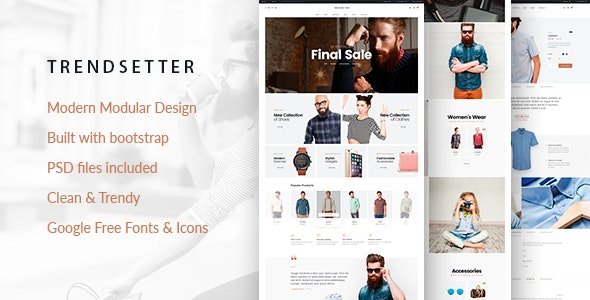 Trendsetter - e-Commerce HTML  template - Shopping Retail