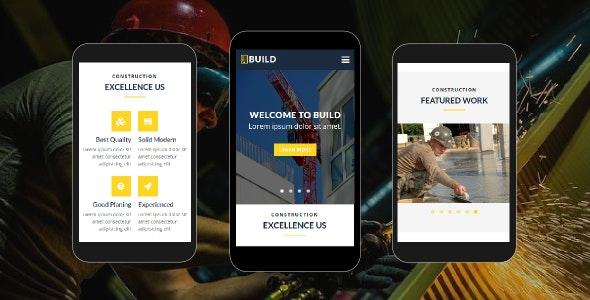 Build - Construction Mobile Template - Mobile Site Templates