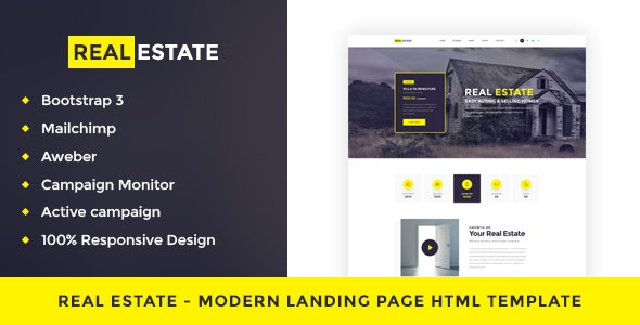 Real Estate - Single Property Landing Page HTML Template - Corporate Site Templates