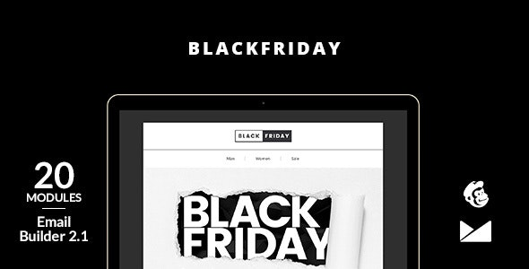 BlackFriday Email Template + Online Builder 2.1 - Newsletters Email Templates