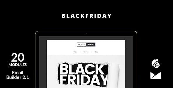 BlackFriday Email Template + Online Builder 2.1