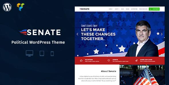 Senate - Politic, Senator and Election Campaign WordPress Theme - Political Nonprofit