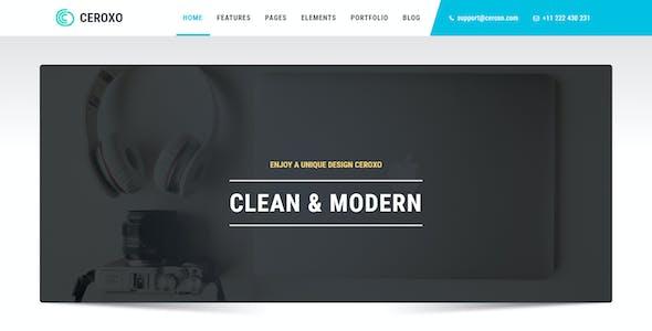 CEROXO - Bootstrap Responsive Multi-Purpose HTML5 Template