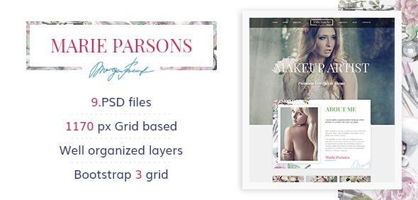 Makeup Artist - Premium PSD Template - Health & Beauty Retail