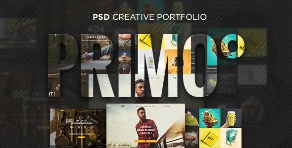 Primo° - Creative Portfolio PSD Template - Portfolio Creative