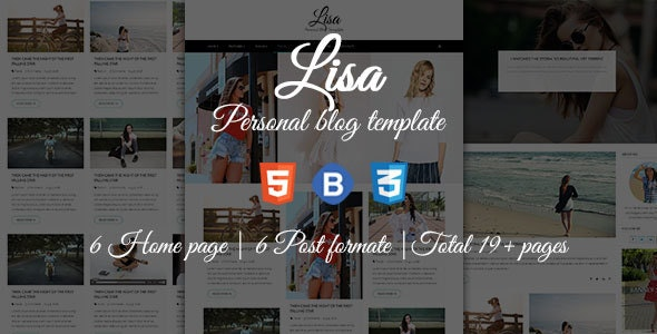 Lisa - Personal Blog Template - Personal Site Templates