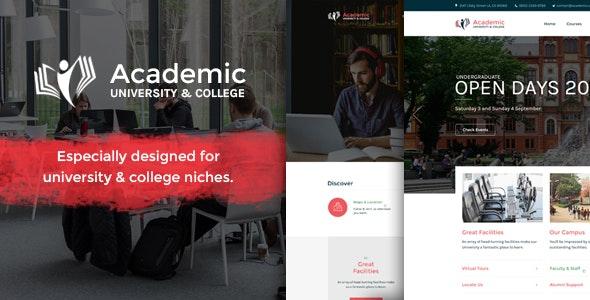 Academic | Responsive University Education Bootstrap Site Template - Corporate Site Templates