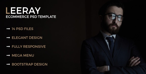 Leeray Ecommerce PSD Template - Fashion Retail