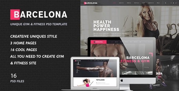 Barcelona - Fitness PSD Template - - Health & Beauty Retail