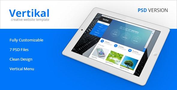Vertikal - Vertical Navigation PSD Template - Business Corporate