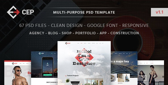 CEP | Creative Multi-Purpose PSD Template - Creative PSD Templates