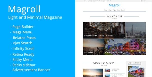 Magroll - Responsive WordPress Magazine/Blog Theme - Blog / Magazine WordPress