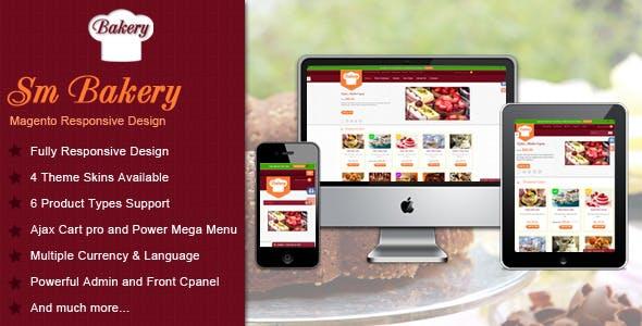 Responsive Multi-Purpose Magento Theme - SM Bakery