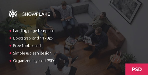 Snowflake - Onepage Agency PSD Template - Creative Photoshop